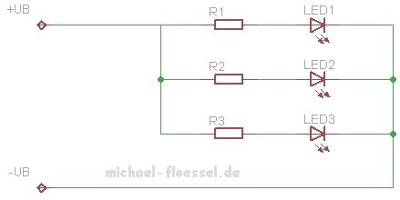 LEDs parallel