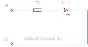 Einfache LED Schaltung mit Vorwiderstand