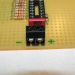 Lauflicht PIC 16F688 mit SMD LEDs auf Lochraster - www.michael-floessel.de