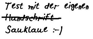 Handschrift in den PC bringen - www.michael-floessel.de