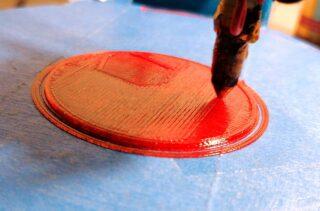 Rotes PET-Filament, ein Versuch!
