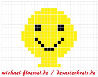 Emoji Bügelperlen (einfache Vorlage)